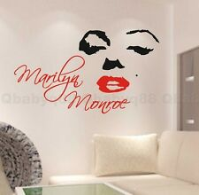 Marilyn Monroe Wall Quote decal Removable stickers decor Vinyl DIY home art gift