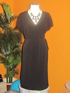FASHION BUG $60 NWOT XL black women's dress with inner sewn-in girdle