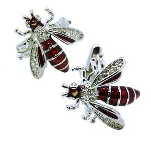 Wasp Bees Insect nature crystal Mens Gift cuff links by CUFFLINKS DIRECT