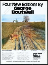 1981 Golden Retriever Waiting for the Bus George Boutwell art gallery print ad
