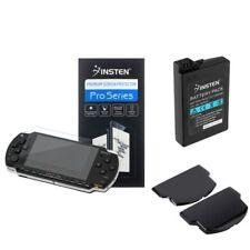 Замена SLIM увеличенное время работы от аккумулятора комплект + черная дверь чехол для SONY PSP 2000 3000