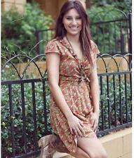 Matilda Jane CHEERIO WRAP Dress Rayon Geo Medium Women's Serendipity NWT