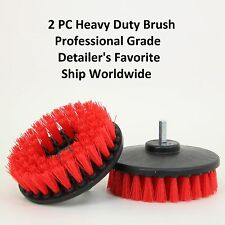"2x Heavy Duty Scrubbing Cleaning Car Seats Brushes 5"" w/ Power Drill Attachment"