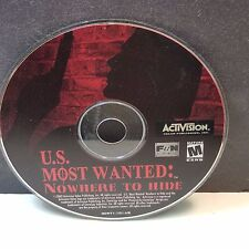 U.S. Most Wanted: Nowhere to Hide (PC, 2002) DISC ONLY