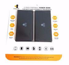 NEW Honeycomb (2 Pack) 10,000 mAh Premium Portable USB Chargers 20,000mAh Total