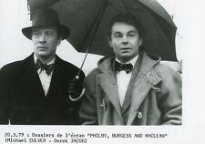 "DEREK JACOBI MICHAEL CULVER ""PHILBY, BURGESS AND MACLEAN"" FLEMYNG PHOTO TV CM"