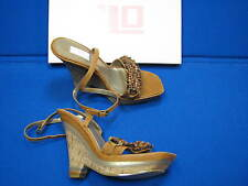 7 M JLO by Jennifer Lopez Jannelle Brown Ladies Womens Wedge Shoes Sandals Beads