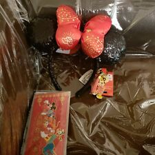 Disney Parks Lunar New Year Minnie Mouse Ears Headband plus Keychain and notes