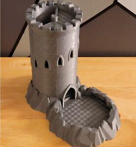 CASTLE Dice Tower ~ Dice Tray Roller Board Game D&D Pathfinder Catan War Mini