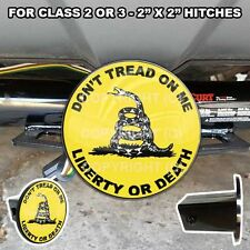"""Tow Hitch Receiver Insert Cover Plug 2"""" X 2"""" Truck & SUV DON'T TREAD ON ME SNAKE"""