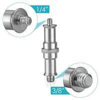 """Male 1/4"""" Spigot Stud Adapter Camera Screw Umbrella Tripod Light G1L9 Flash U8A8"""