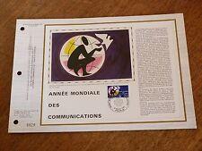 N° 674 S DU CATALOGUE CEF     ANNEE MONDIALE DES COMMUNICATIONS