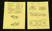 "PATENT ART PRINT 8.5"" X 11"" READY TO FRAME 1989 MOVIE BATMOBILE"