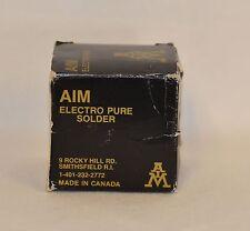 1# spool 60/40 (60%tin-40%lead)  Aim electro-pure solder .125 flux RMA 3% new