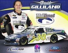 2012 David Gilliland ModSpace Ford Fusion NASCAR Sprint Cup postcard