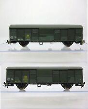 Roco 76097 H0 Set Ged.Güterwagen Gbs252/254 grün Post Ep.IV 2teilig NEU/OVP