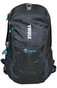 Thule Sweden Backpack Black Teal Outdoor Cigna Logo