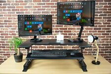 """Height Adjustable Standing Desk 36"""" Table Top Workstation Fits Dual Monitor New"""