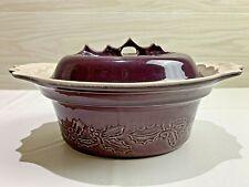 Appolia Autumn Covered Casserole Baking Dish Ceramic France PURPLE/EGGPLANT