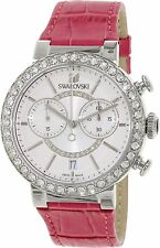 Swarovski Women's 5096008 Citra Sphere Chronograph Crystal Red Leather Watch