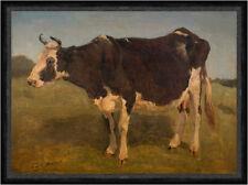 Black and white cow standing. Study. Carlo Dalgas Tiere Kühe Hörner Faks_B 01002
