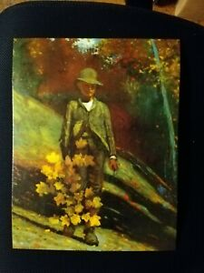 """Winslow Homer VINTAGE PRINT """"Gathering Autumn Leaves,"""" BEAUTIFULLY PRESERVED"""