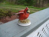 Vintage Lefton China Hand Painted Red Cardinal Bird Figurine KW1637  Japan