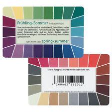 "Farbpass Frühling-Sommer ""Loop"" - Plastikkarte mit 44 Farben"
