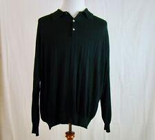 Toscano Men's Long Sleeve Black Knit Pullover - Size 2X