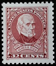 1995 32c James K. Polk, 11th President Scott 2587 Mint F/VF NH