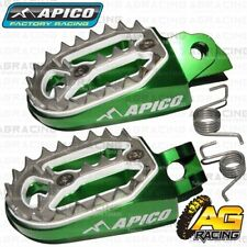 Apico Pro Bite Pro-Bite Green Wide Footpegs For Kawasaki KX 85 Big Wheel 2018