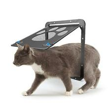 New Magnetic Automatic Lock/Lockable Pet Cat Dog Flap Safe Door Gate for Screens