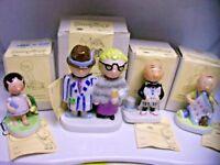 4 VTG 1981 Porcelain Dumplings Figurines By Joan Berg Aldon RARE!!