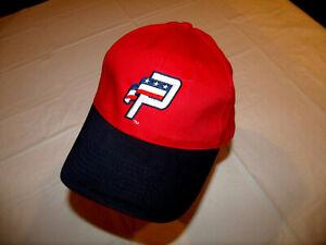 Potomac Nationals MiLB Red Hat Black Brim Adult Adjustable Cotton SGA Washington
