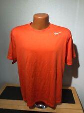 Mens Nike Dri Fit S/S Athletic Shirt Size Medium (M) Orange - Polyester
