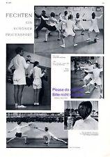 Fechten Frauensport XL Seite 1931 mit 5 Fotoabbildungen Degen Fechtsport -