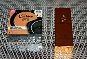 WET N WILD MEGA CUSHION FOUNDATION#121A & SOLUTIONS LIPGLOSS LOT OF 2 BOXED