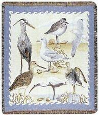 New Shore Birds Afghan Throw Blanket Plover Egret Heron Seagull Beach Sea Ocean