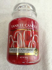 Yankee candle 'Cranberry Peppermint' large jar