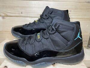 Nike Air Jordan XI 11 Retro Gamma Blue 2013 Sz 10.5 Black Gold Yellow 378037-006