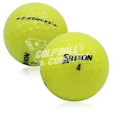 12 Srixon Z Star XV Yellow Near Mint AAAA Used Golf Balls - FREE Shipping
