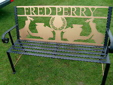 Steel Garden Bench - Fred Perry & Lambretta Scooters