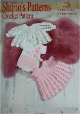 CROCHET PATTERN for BABY GIRL DRESS, JACKET, ONSIE, HEADBAND #32 NOT CLOTHES