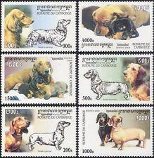 Cambodia 2000 Dacshunds/Dogs/Pets/Animals/Nature 6v set (b8688)