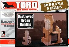 TORO MODELS TO350004 - DESTROYED URBAN BUILDING - 1/35 CERAMIC KIT