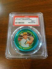 1971 Topps Coins #15 Bill Mazeroski Pirates graded PSA 7 NM
