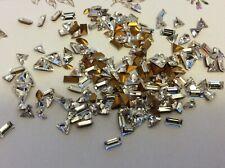 Vintage Swarovski Crystal Rhinestone REPAIR CRAFT Tri Baguette navette Pack 36