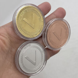 3pcs Vechain V COIN Digital Money Gold Silver Crypto Coin Collectible Great Gift