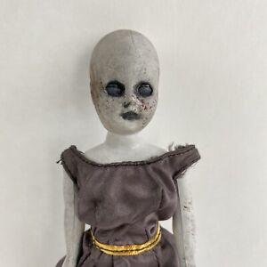 "Vintage Creepy Doll Horror Tiny Zombie Girl Halloween Haunted House Prop 7"""