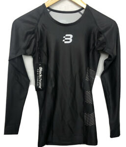 Black Chrome Sportswear Cycling Long Sleeve Top Size XS Brand New with Tags F123